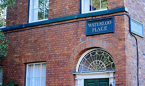 Waterloo Place sign
